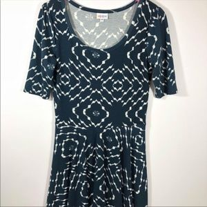 NWOT LuLaRoe Nicole Dark Turquoise White Dress